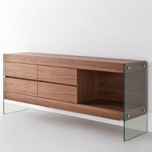 Sideboards  - Ultimo Ultra Contemporary Sideboard in Walnut