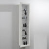 Wall Mounted White Display Cabinet,  bora9