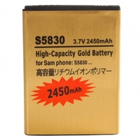Accessories|Batteries|Communication & Mobile Phones  - 2450mAh Battery for Samsung Galaxy Ace S5830 Gold