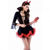3Pcs Sexy Demon Outfit Lady Halloween Costume Free Size