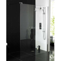 Showers  - Hudson Reed - W700mm x H1950mm Wet Room Screen - WRSB700