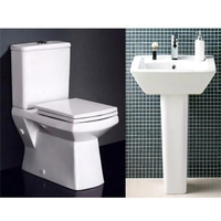 Bathroom Fittings & Products|Shower & Bath Taps  - New Zeto Square Back To Wall 4 Piece 1TH Bathroom Suite