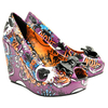 Shoes Iron Fist Oh No Design Wedge Shoes (Purple)