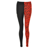 Clothing & Accessories|Fashion|Trousers & Shorts|Leggings Lip Service Red Leopard Print Contrast Design Leggings