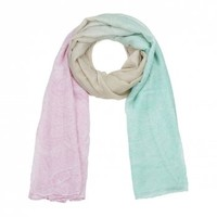 Scarves & Headscarves  - Colour Fade With Subtle Detail Scarf