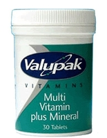 Medicine & Pharmacology  - Valupak Multi Vitamins & Minerals 25 Tablets