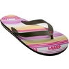 Shoes Reef Flip Flops | Reef Girls Forkette Sandals 09 - Brown Pink