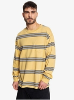 Clothing & Accessories  - Positive Vibrations - Long Sleeve T-Shirt for Men - Yellow - Quiksilver