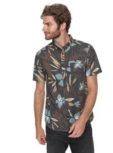 Clothing & Accessories  - Quiksilver - Short Sleeve Shirt for Men - Brown - Quiksilver