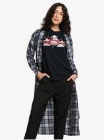 Clothing & Accessories  - Quiksilver Womens - Long Sleeve Extra-Long Wrap Shirt for Women - Black - Quiksilver