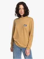 Clothing & Accessories  - Quiksilver Womens - Long Sleeve Mock Neck T-Shirt for Women - Brown - Quiksilver