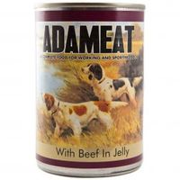 Dog Food  - Cambrian Pet Foods Ltd Adameat Beef in Jelly 12x400g Complete Tinned Dog Food (Size: Tray)