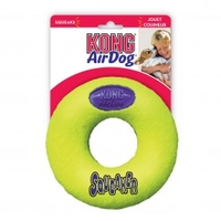 Chewing Rings  - Kong AirDog Squeaker Donut (Medium) - Dog Toys & Accessories (Size: Each)