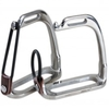 "Korsteel Peacock Safety Stirrup Irons - Horse Leathers and Metalwork (Size: 4.5"") 4.5"""