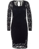 Body Frock Womens Grace Dress,  Navy Blue Brocade Lace Dress