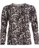 Cocoa Cashmere Black And Grey Animal Print Crew Neck Jumper