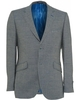 Holland Esquire Blue And Grey Hopsack Check Classic Fit Jacket