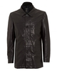 Hugo Boss Black Mens Coat,  Arimo Regular Fit Black Leather Jacket