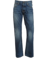 Nudie Jeans Blue,  Average Joe Organic Vacation Worn Mid Light Jean