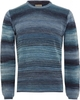 Nudie Jeans Blue Dale Printed Yarn Sweater