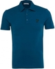 Versace Collection Teal Slim Fit Polo Shirt With Logo Detail