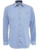 Vivienne Westwood Man Shirt Blue and White Pac Man Stripe Check Shirt
