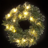 1.5ft Pre Lit Wreath with Warm White LEDs