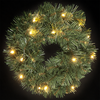 1.5ft Spencer Pine Pre Lit Wreath with Warm White LEDs