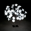 1.5ft/45cm Fibre Optic Gold Flower Tree with 48 Ice White Lights