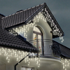 180 Warm White Outdoor Icicle LED Christmas Lights