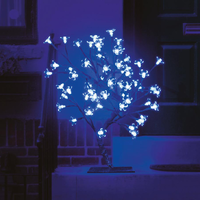 Christmas Trees  - 18in/45cm Cherry Blossom Tree with 40 Electric Blue LEDs