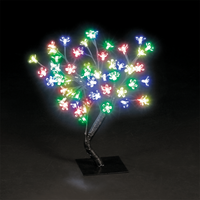 Christmas Trees  - 18in/45cm Cherry Blossom Tree with 56 Static & 8 Flashing Multi-Coloured LEDs