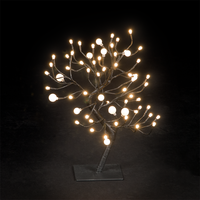 Christmas Decoration  - 18in/45cm Dual Size Globe Tree with 64 Warm White LEDs
