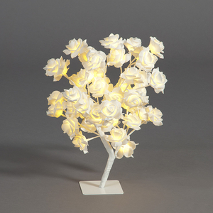 Christmas Decoration  - 18in/45cm Eva Warm White Rose Tree