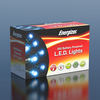 20m Energizer Battery Operated 200 Electric Blue Chaser Christmas Lights