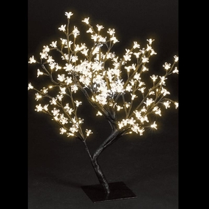 Christmas Trees  - 2.2ft/67cm Multi-function Cherry Blossom Tree with 192 Warm White LED