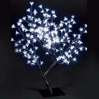 Christmas Trees  - 2.2ft/67cm Outdoor Cherry Blossom Tree with 150 Ice White LEDs