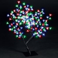 Christmas Trees  - 2.2ft/67cm Outdoor Cherry Blossom Tree with 192 Colour Changing LEDs