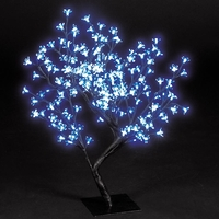Christmas Trees  - 2.2ft/67cm Outdoor Cherry Blossom Tree with 192 Electric Blue LEDs