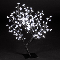 Christmas Trees  - 2.2ft/67cm Outdoor Cherry Blossom Tree with 192 Ice White LEDs