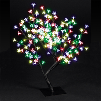 Christmas Trees  - 2.2ft/67cm Outdoor Cherry Blossom Tree with 192 Multi-Colour LEDs