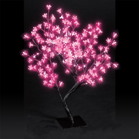 Christmas Trees  - 2.2ft/67cm Outdoor Cherry Blossom Tree with 192 Stunning Pink LEDs