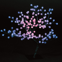 Christmas Trees  - 2.2ft/67cm Outdoor S-Shaped Globe Tree with 192 Colour Changing LEDs