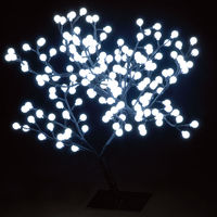 Christmas Trees  - 2.2ft/67cm Outdoor S-Shaped Globe Tree with 192 Ice White LEDs