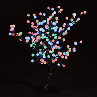 Christmas Trees  - 2.2ft/67cm Outdoor S-Shaped Globe Tree with 192 Multi-Colour LEDs