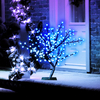 26in/67cm S-Shape LED Globe Tree with 192 Electric Blue LEDs
