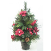 2ft Tabletop Tree with Red Amaryllis