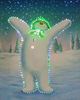 30cm x 40cm The Snowman Coming to Life Illuminated Wall Canvas