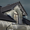 3.5m 180 Warm & Ice White Multi-Function Indoor & Outdoor Christmas Icicle Lights