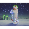 40x50cm The Snowman & Billy Cuddling Large Illuminated Wall Canvas